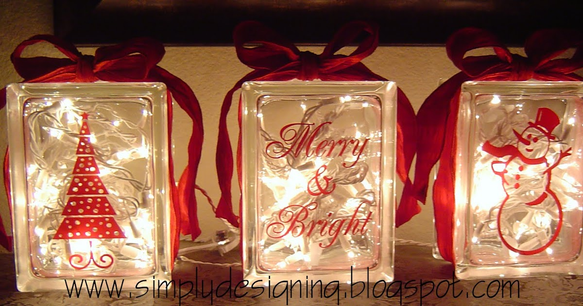 Christmas Glass Blocks | DIY Christmas