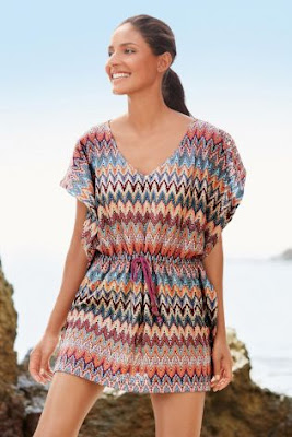 Kaftan, red, zig zag, holiday, clothes, fashion, next