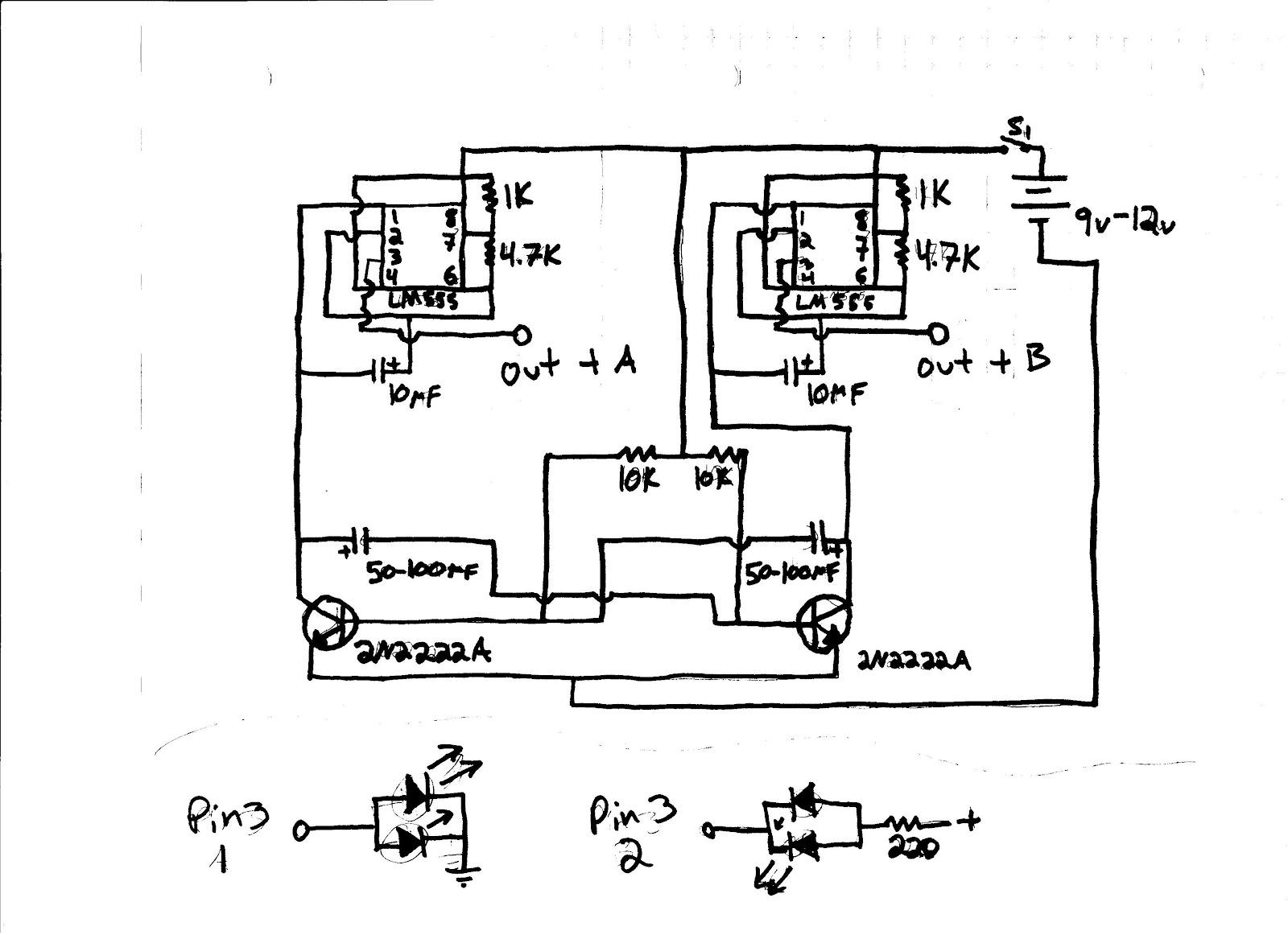 Transistor 555 Ic Strobe Light