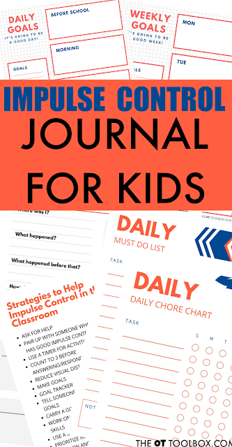 Impulse control journal for kids with impulsivity problems