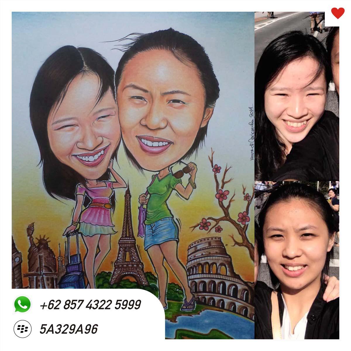 Karikatur Lukis Untuk Sahabat Relasi Teman Sekantor 0812 1214 8999