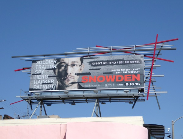 Snowden film billboard