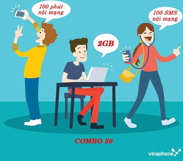 Cách đăng ký gói Combo50 Vinaphone