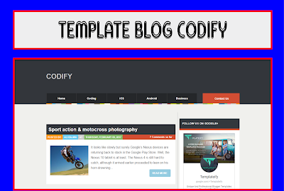 Codify Blogger Template Responsive Free