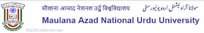 MANUU Distance B.Ed Admissions Moulana Azad National Urdu University
