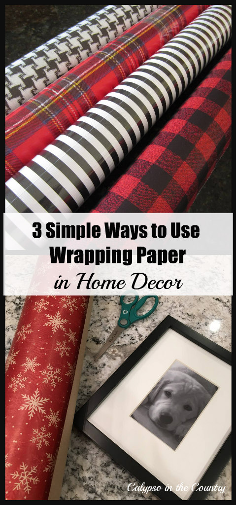 3 Simple Ways to Use Wrapping Paper in Home Decor