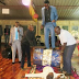 Omg! Zimbabwean prophet heals people while rolling drum on them (Photo)