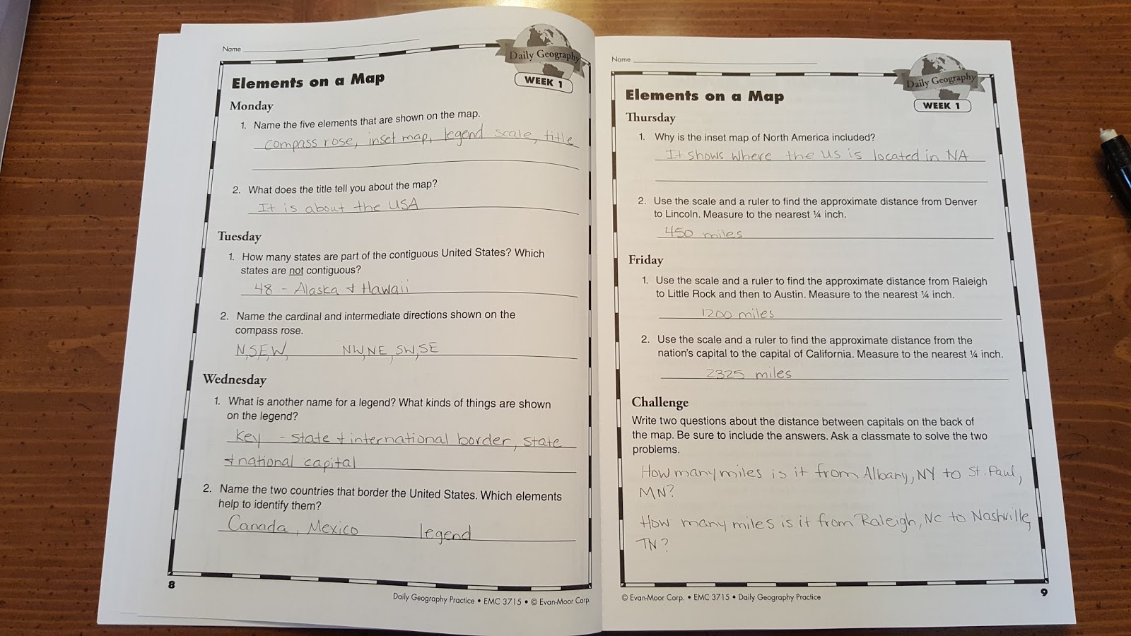 Grace Christian Homeschool Review Of Daily Geography Grade 6