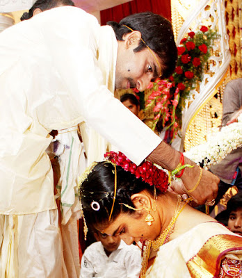 bride Sri Satya and the groom Gopichand