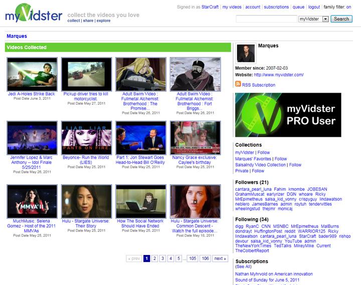 Myvidster Developer Blog