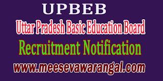 UPBEB (Uttar Pradesh Basic Education Board) Recruitment Notification 2016