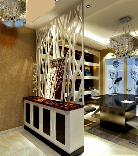 Vách ngăn cnc phòng khách và phòng ăn đẹp