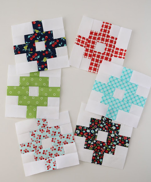 Free quilt blocks patterns from the Patchwork Quilt Along with the Fat Quarter Shop