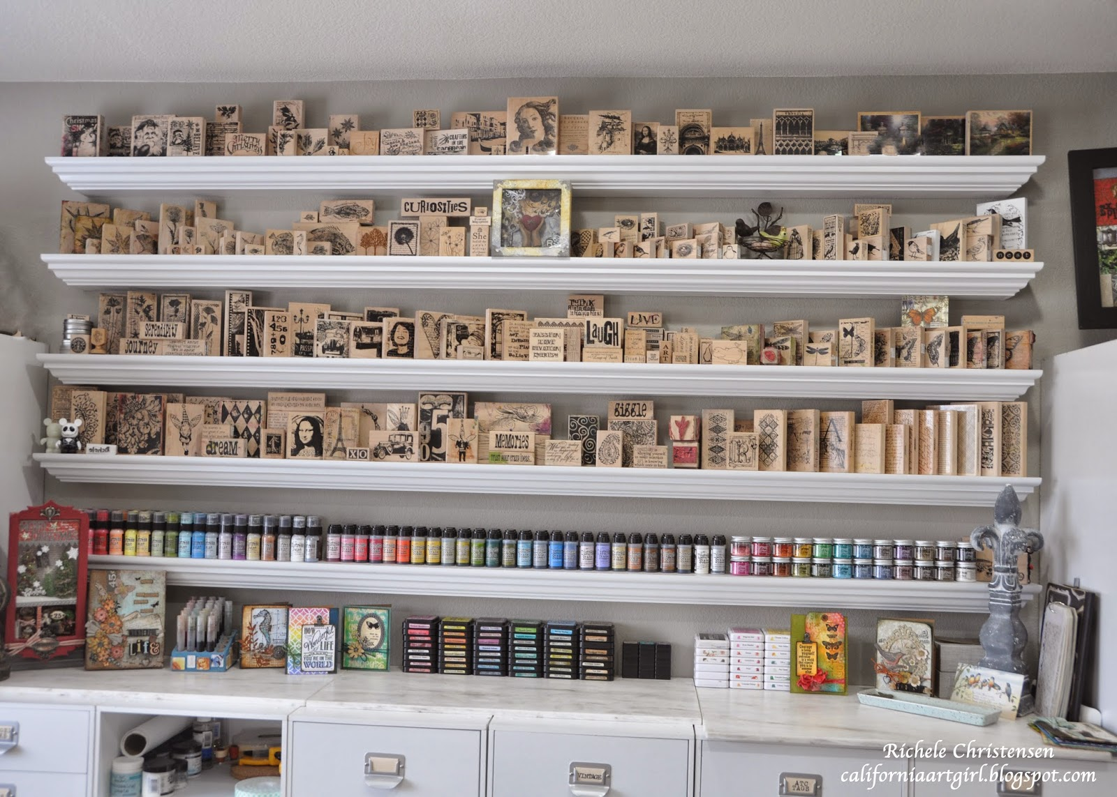 Storage For Craft Room: Richele Christensen: Craft Storage Ideas Guest Blogger