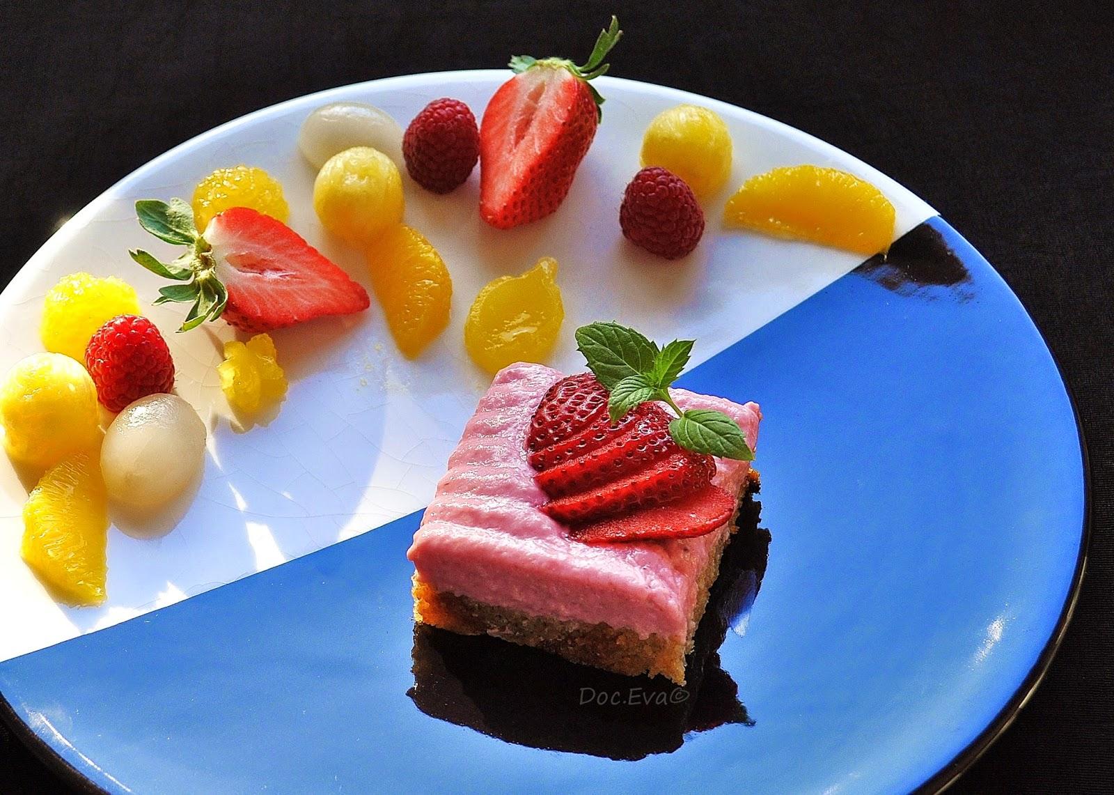 Zitruskuchen, Erdbeerquarkschnitte