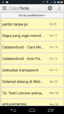 cara mudah blogging via android - catatandroid