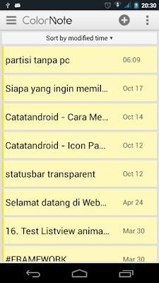 cara mudah blogging via android - catatandroid