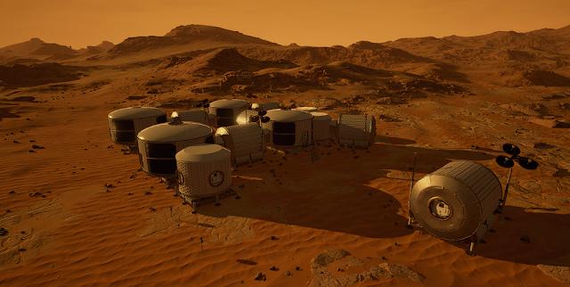 Mars 2030 VR image - base