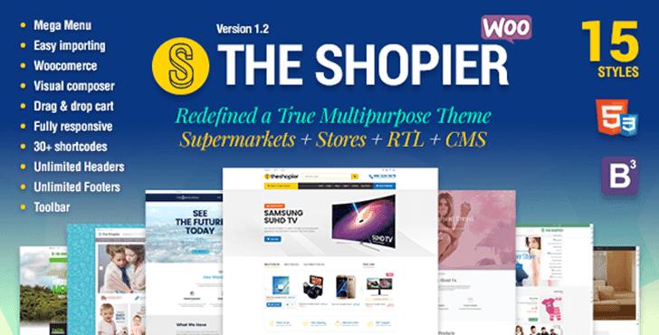 Shopier Theme - Responsive Multipurpose WordPress WooCommerce