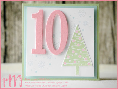 Stampin' Up! rosa Mädchen Kulmbach: Stamp A(r)ttack Blog Hop: Weihnachten – Adventskalender mit Weihnachtswerkstatt, Candy Cane Season, Seasonal Chums, Making everyday bright, Christbaumfestival und Festliche Fäustlinge