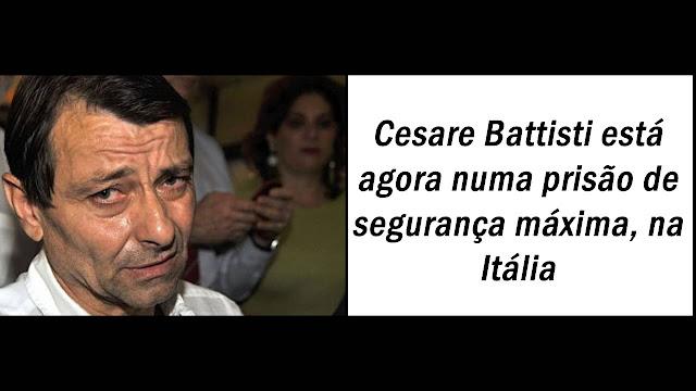 Battisti ficará em isolamento por um ano em prisão na Sardenha.