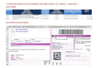 Template Poslaju Database System Purple (1 Page) - Design 1