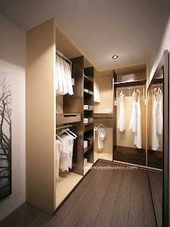 lemari pakaian tanpa daun pintu