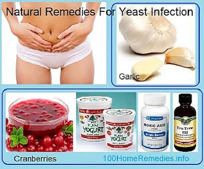 Natural remedies of thrush using garlic, boric acid, yogurt, tea tree oil, etc.