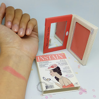 [REVIEW] THE BALM INSTAIN LONG WEARING STAINING POWDER BLUSH SHADE SWISS DOT