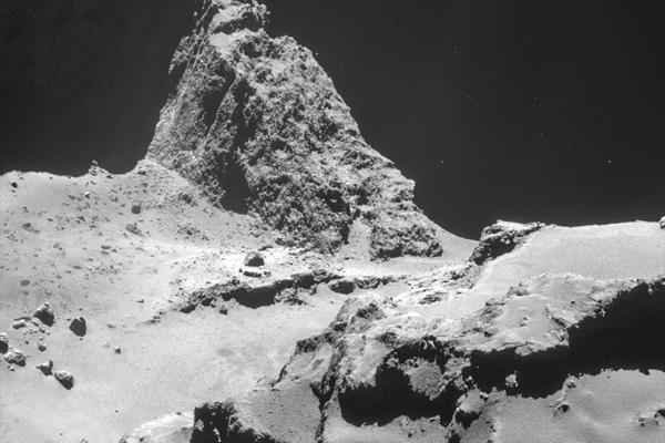 Superficie del cometa 67P/Churyumov-Gerasimenko