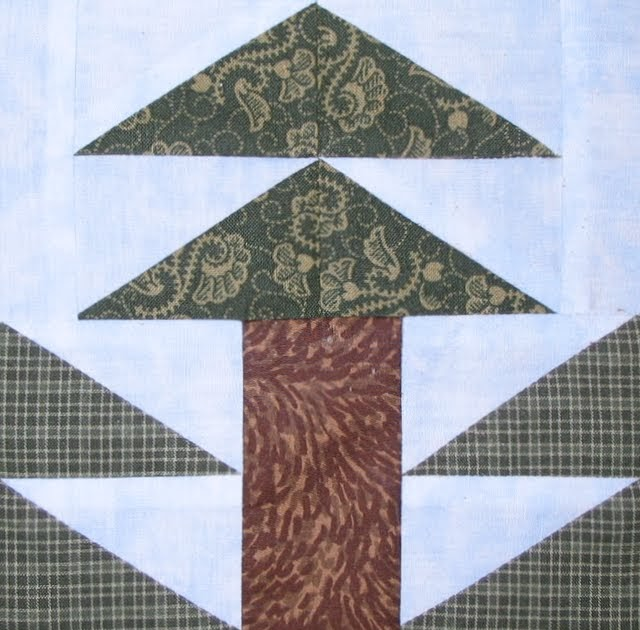Starwood Quilter Tall Pine Tree Quilt Block