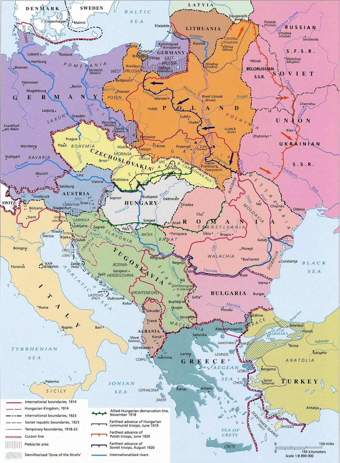 Central-Eastern Europe after World War I