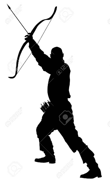 Archer With Bow And Arrow Stock Vector