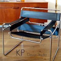 Comprar silla, butaca o asiento para descanso, antigua de calidad, diseño vintage, acero cromado y cuero