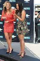 Priyanka Chopra looks super cute in happy mood wearing a short flower print dress in Hollywood 009.jpg