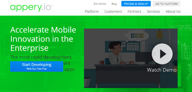 Appery Best Platforms To Develop Mobile Apps