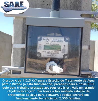 Estação de tratamento de água para o Bixopá