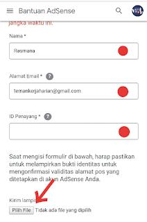 Upload Data Identitas diri KTP sebagai Pengganti PIN Adsense