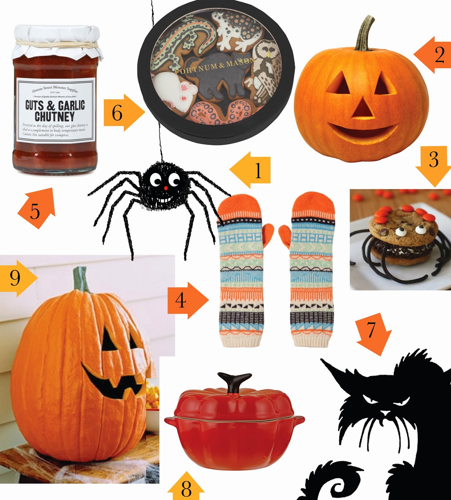 Uk 8 Le Creuset From John Lewis 9 Carved Pumkin From Martha Stewart.9 Happy New Years Kiss Image 2014