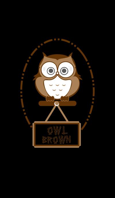 Owl Brown Black