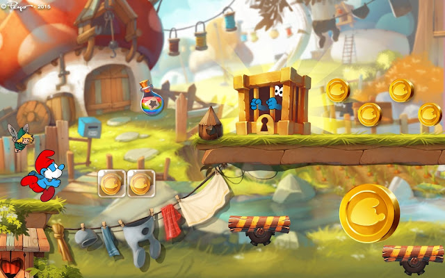 Los Pitufos Epic Run v1.8.1 Apk + Datos SD Mod [Dinero]