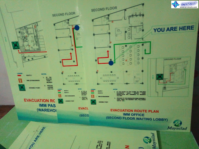 Photoluminescent Evacuation Maps - Maynilad