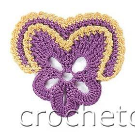 Patrón #1873: Como tejer flor pétalos irregulares a crochet