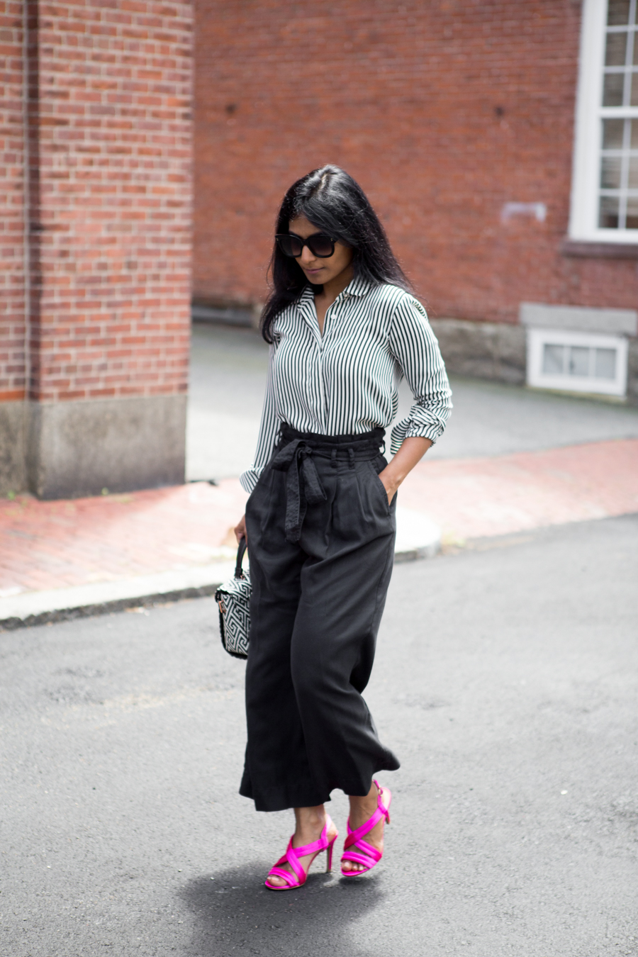 nordstrom anniversary sale, paper bag pants, culottes, palazzo pants, summer style, summer pants, work style, work outfit, business casual, satin sandals, ted baker, zara, nordstrom, affordable style, petite blogger, fashion blog, 40plusstyle, trendy, neutrals, officestyle
