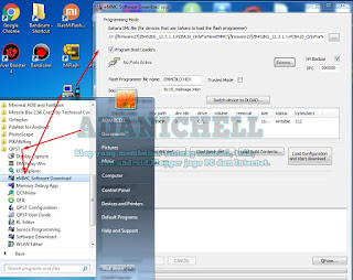 pilih menu eMMC Software Download