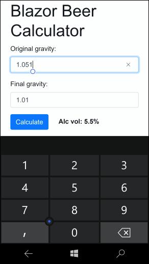 Blazor offline app