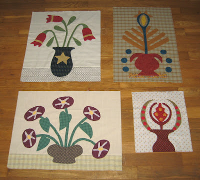 blocks for Linda Brannock's Flowers quilt