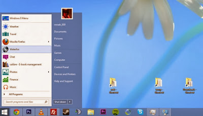 Start menu in Windows 8.2