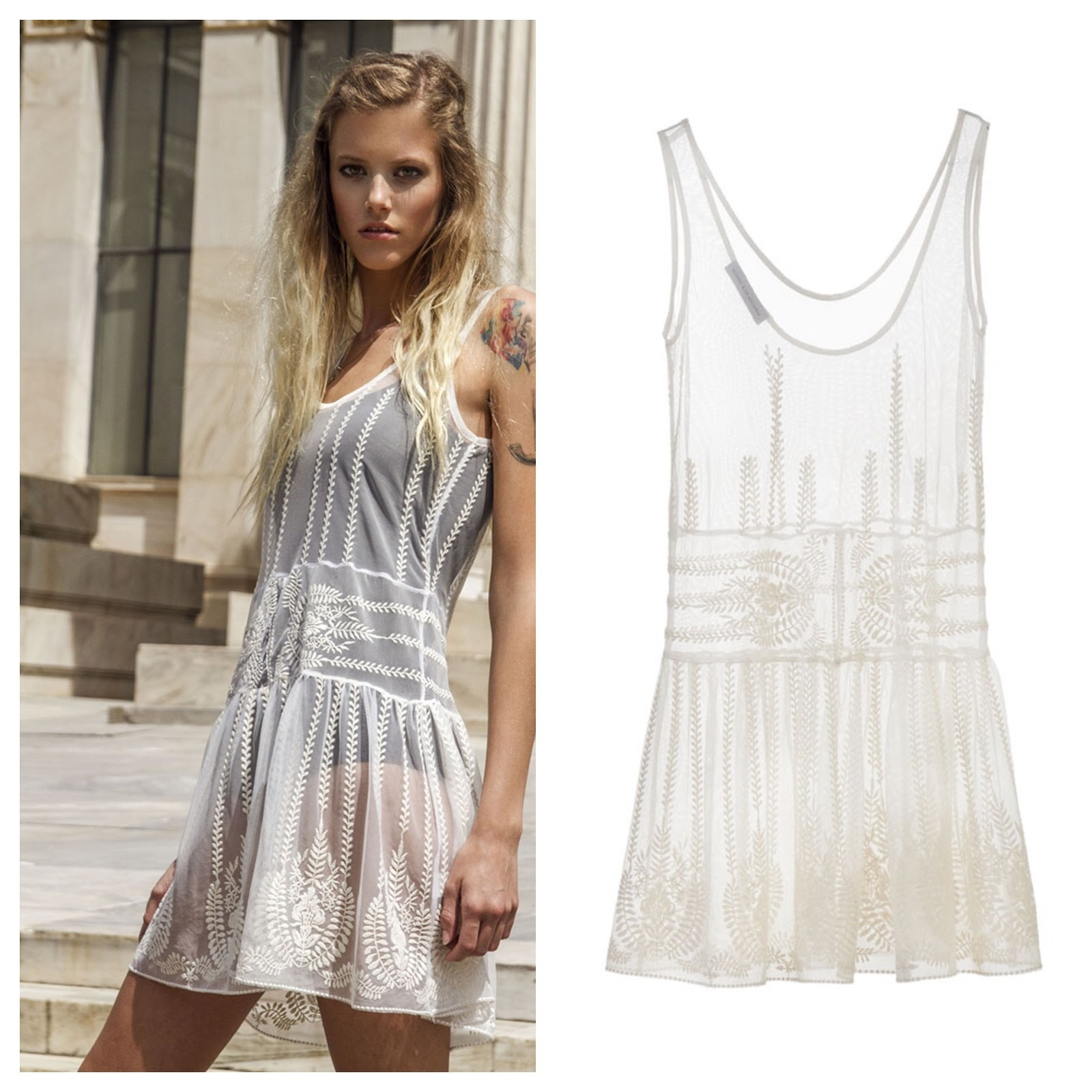 b075a79ce132 The White Knitted Tulle Mini Dress