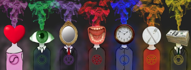 ilustración de los siete pecados capitales
